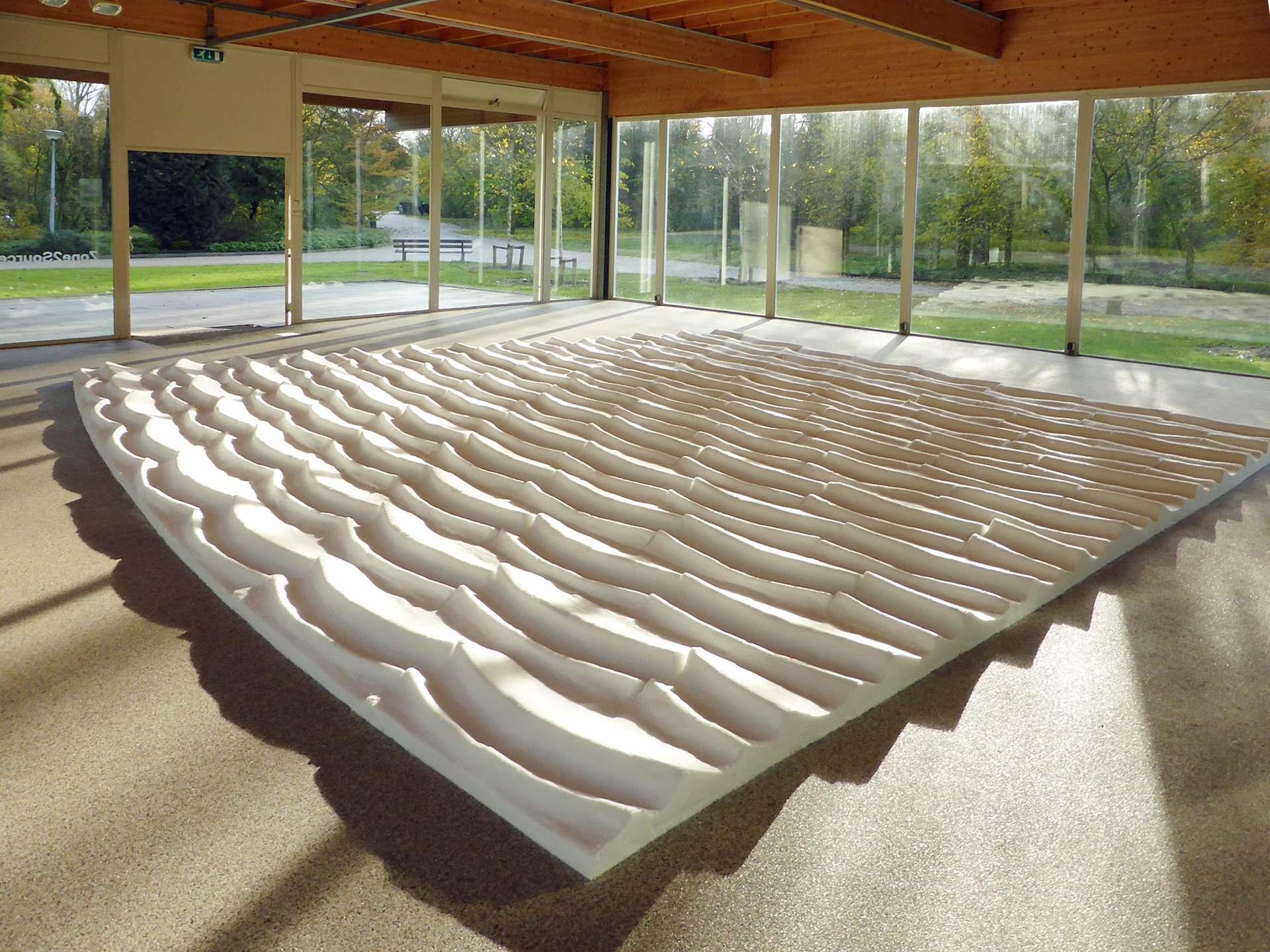 Salina - ephemeral art installation made of salt
