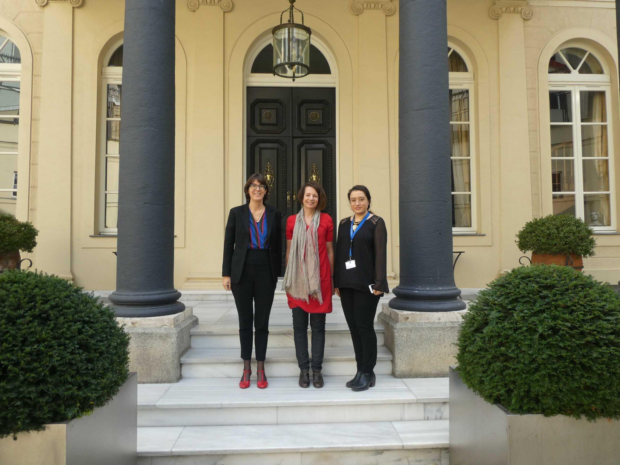 Quirine van der Hoeven, Cultureel attaché en Büşra Dursun, Cultuur Stagiaire